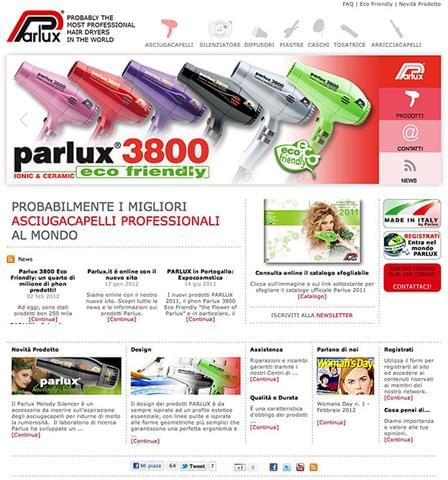 Nuovo sito Parlux - www.parlux.it.jpg